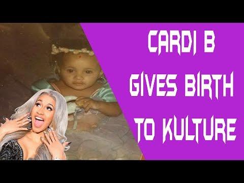 Cardi B gives birth to Kulture