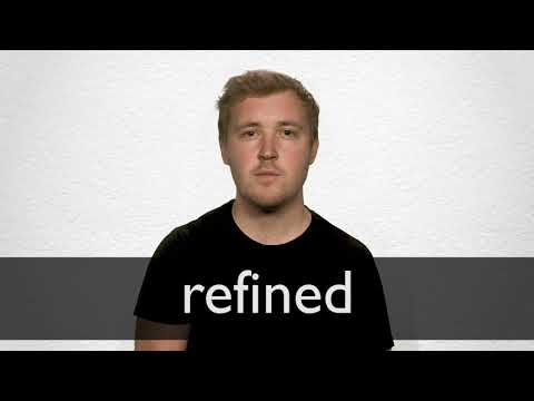 How to pronounce REFINED in British English