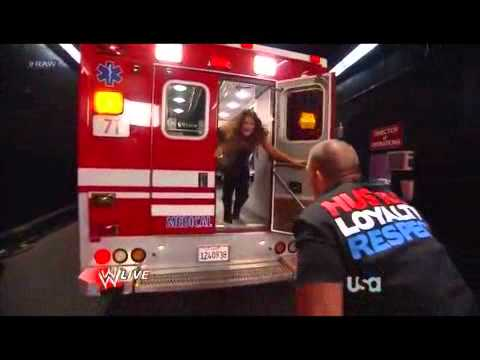 WWE Raw 2/13/12 Kane attack Eve [Eve kiss John Cena]