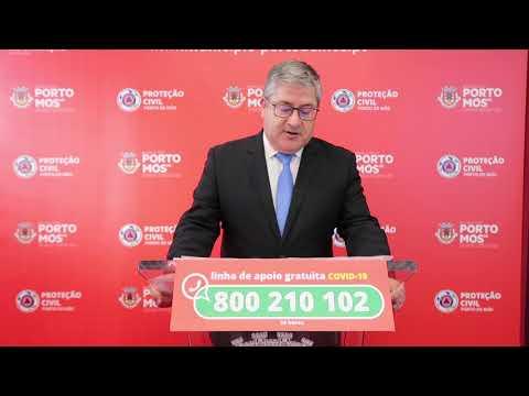 Comunicado Presidente da Câmara Municipal de Porto de Mós - COVID-19 - 17-06-2020