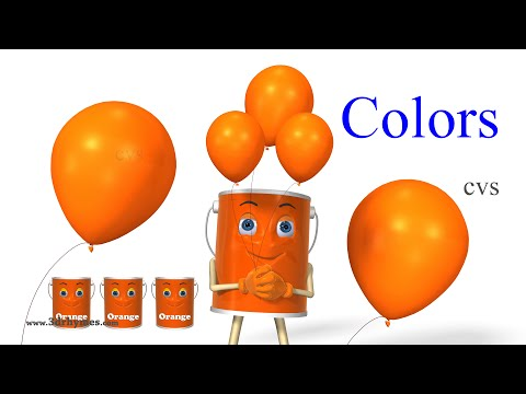 color - Learn Colors Song 2 - 3D Animation Colors Nursery Rhymes for children.