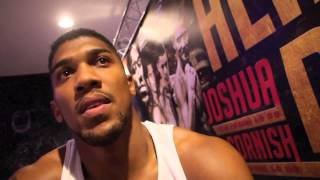 Anthony Joshua - Post Gary Cornish Fight