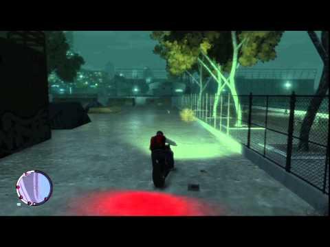 GTA IV Motorbike jumping on skatepark