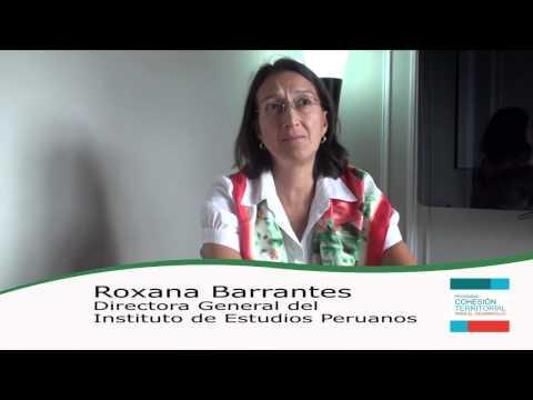Roxana Barrantes – Cápsulas Cohesión Territorial para el Desarrollo