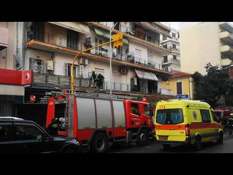 Video - Καλά στην υγεία τους όλοι οι ένοικοι της οικοδομής όπου εκδηλώθηκε φωτιά