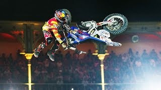 Video Historic Bike Flip in FMX competition - Red Bull X-Fighters Madrid 2014 MP3, 3GP, MP4, WEBM, AVI, FLV Juni 2017
