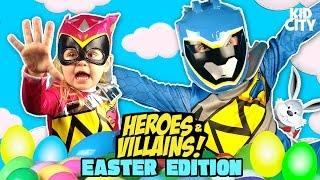 Video Easter Egg Hunt & Heroes & Villains Surprise Egg Challenge w/ Power Rangers, Batman & Justice League MP3, 3GP, MP4, WEBM, AVI, FLV Juni 2018