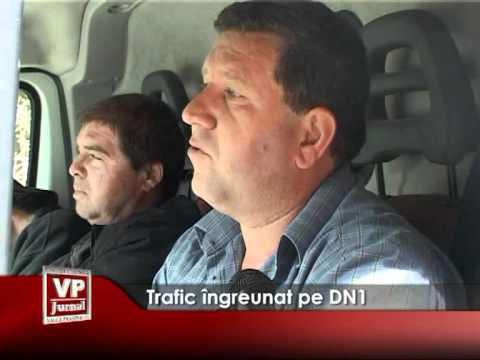 Trafic îngreunat pe DN1