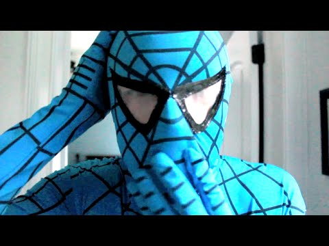 The Amazing Blue Spiderman!