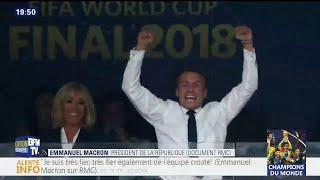 Coupe du monde: la très grande fierté d'Emmanuel Macron au micro de RMC