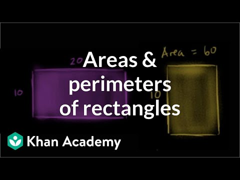 Comparing Areas And Perimeters Of Rectangles Video Khan Academy