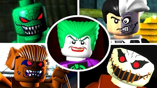 All bosses compilation of LEGO Batman The Videogame for PS2, PS3, PSP, DS, PC, Xbox 360 and Nintendo Wii (1080p & 60fps) Enjoy - Rate - Comment - Subscribe =...