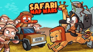 Safari KING of the JUNGLE MAP WARS! (Minecraft)
