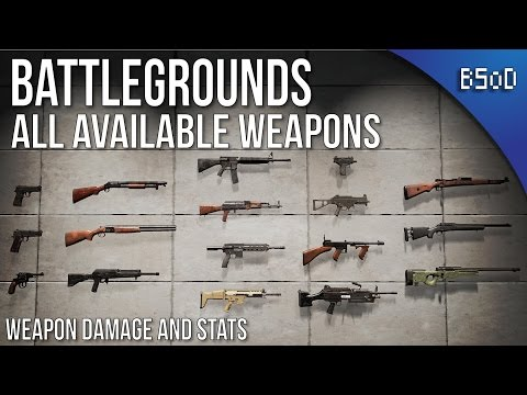 PUBG | Battlegrounds All Weapons And Statistics