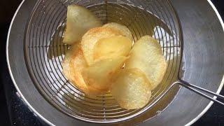 బంగాళాదుంప చిప్స్ | How To Make Potato Chips Recipe In Telugu | Aloo Chips By Amma Chethi Vanta