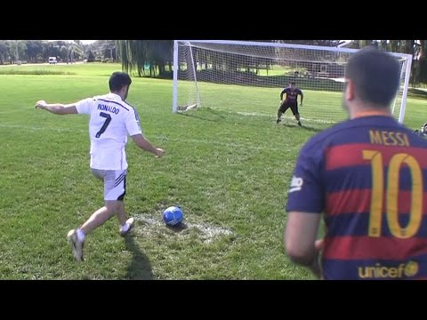 Cristiano Ronaldo vs. Messi - Penalty Shootout | In Real Life!