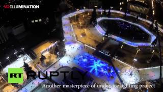 Russia Vuitton Han Park Biggest Outdoor Ice Rink in the world Under ice lighting project