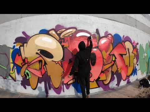 Colorful Trainline Graff