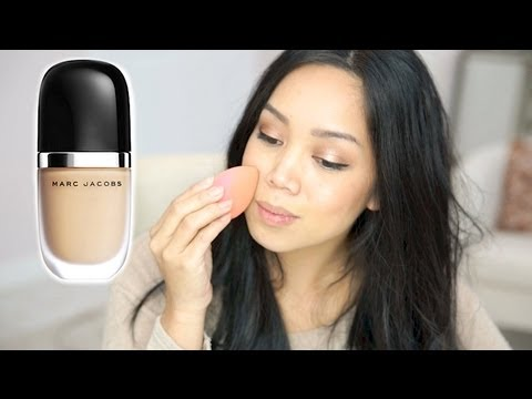 NEW MARC JACOBS Genius Gel Super-Charged Foundation first impression review - itsjudytime