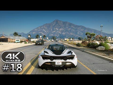 Grand Theft Auto 5 4K Ultra Graphics Gameplay - GTA 5 PC 4K 60FPS