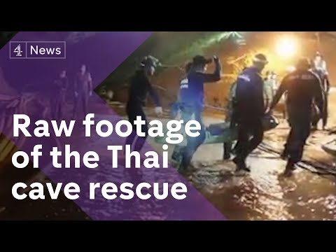 Thailand cave rescue: new footage of dramatic mission
