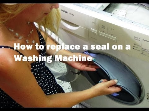 How to replace a Bosch, Siemens or Neff washing machine door seal gasket