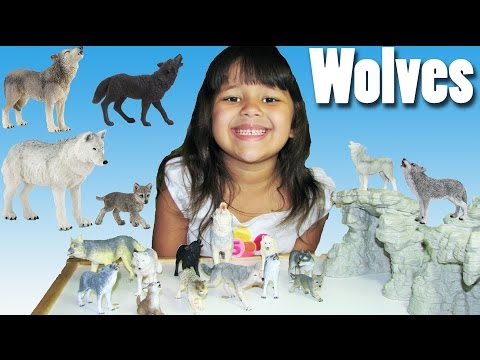 Wolves Schleich Papo Wolf Toys Playing and Storytime