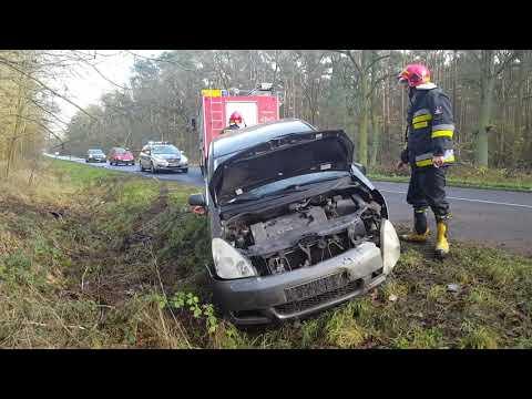 Wideo1: Wypadek na trasie Drzewce - Poniec