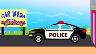 Police Car Wash   videos For Children   videos for kids