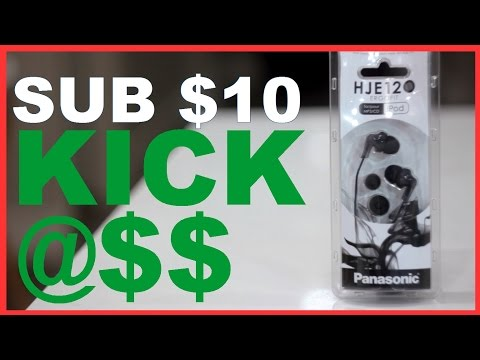 Panasonic HJE120 Earphone Review - Kickass Earbuds for under $10