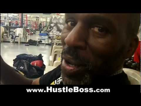 Roger Mayweather reacts to Floyd's face off with Robert Guerrero