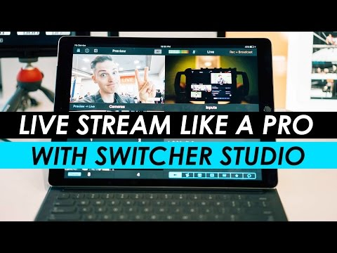 Live Stream like a PRO with the Switcher Studio APP for Facebook Live and YouTube!