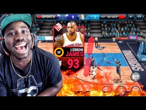SUPREMACY LEBRON JAMES FULL COURT BUZZER BEATER! NBA Live Mobile 16 Gameplay Ep. 15