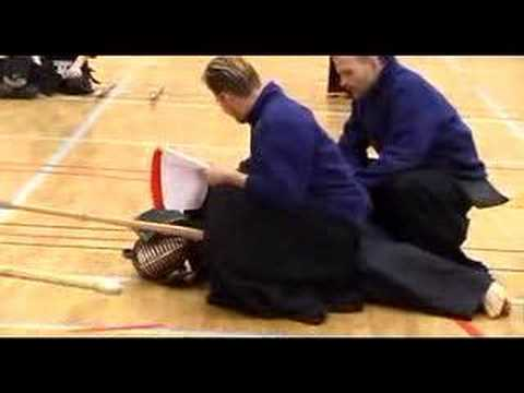 tsuki - How to vanquish your opponent by the use of a powerful scrotum tsukii... Video from the Northern Swedish Kendo Championships. Stefan Sandström, Umeå Kendo (o...