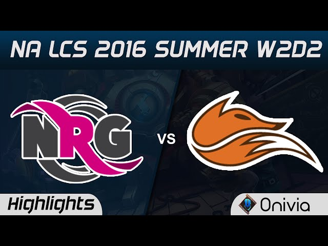 NRG vs FOX highlights Game 2 NA LCS 2016 Summer W2D2 NRG vs Echo Fox