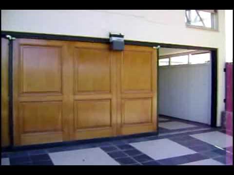 Porton corredizo de madera puerta corrediza sistema - Puertas de acordeon ...