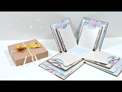TUTORIAL: Exploding Box Grande | Mini álbum | Scrapbooking