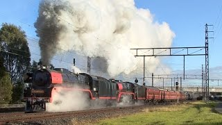 Trafalgar East Australia  city pictures gallery : Hudson Steam Engines on the Snow Train 2014: Australian Trains