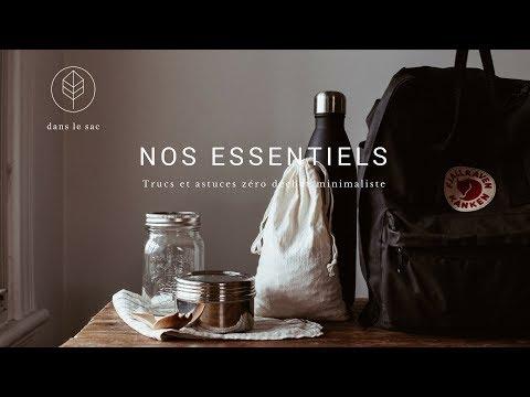 Essentiels du sac à dos - Voyager sans déchet