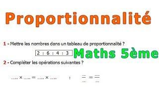 Maths 5ème - La proportionnalité Exercice 2