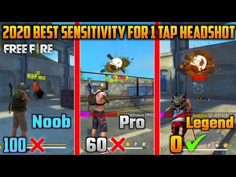 2020 Best Sensitivity For 1 Tap Headshot   Free Fire 1 Tap Headshot Secret Trick   Tips And Tricks  