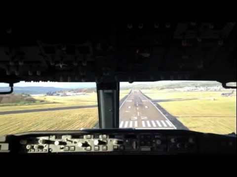 rynair 737 - Filmed from the jumpseat of a Ryanair 737-800 landing at LBA/EGNM.