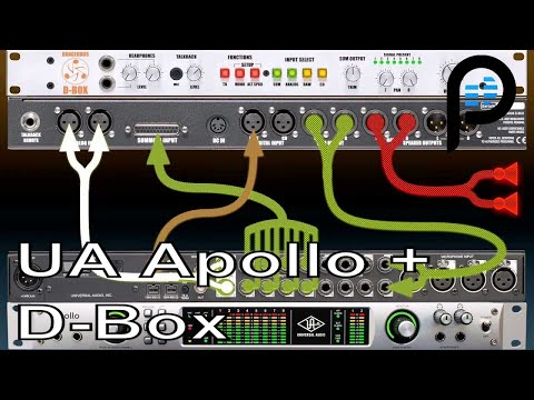 Universal Audio Apollo & D-Box Combo (Console, Monitoring, Real time Processing, Analog Summing)