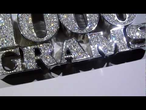 $1550 LMJ Exclusive: 1000 GRAMS Custom Lab Made Diamond Pendant -925 Silver: LabMadeJewelry.com