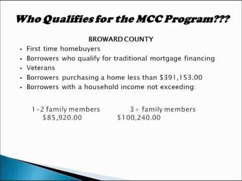 Broward County Mortgage Credit Certificate Program