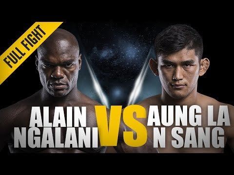 Aung La N Sang vs Alain Ngalani | Historic Open Weight Super-Bout | ONE Full Fight | November 2017