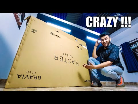 Crazy 3.7 Lakh Rupees TV with AWESOME Features! : SONY A9G