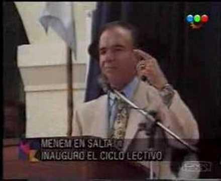Hilarante! La promesa de Carlos Menem