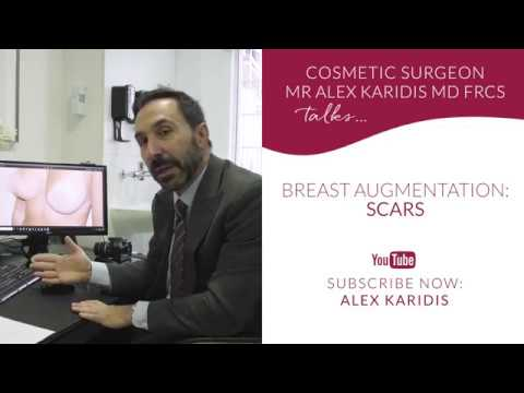 Breast augmentation: scarring