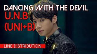 Download Lagu U.N.B(UNI+B) - DANCING WITH THE DEVIL(LINE DISTRIBUTION) Mp3